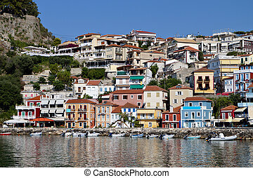 Parga town in Greece - Parga town and port near Syvota in...