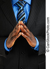 Business man with hands t - This is an image of business man...