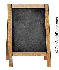 standing welcome blackboard or chalkboard