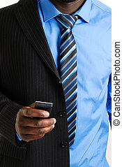 Business man using mobile - This is an image of a business...