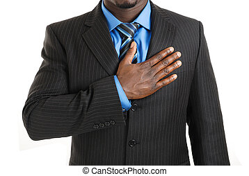 Business man pledging - This is an image of business man...