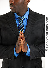 Business man praying - This is an image of a business man...