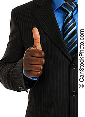 Business thumbs up - This is an image of business man giving...