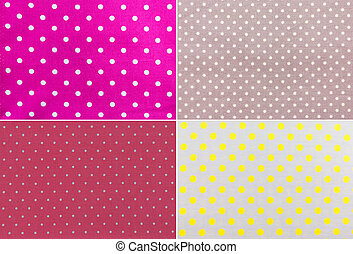 Polka Dots farbic - 4 Polka Dots farbic Background texture