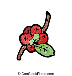 winter berries cartoon