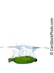 水, 新たに, はね返し, フルーツ