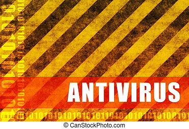 Antivirus Software System as a Message Background