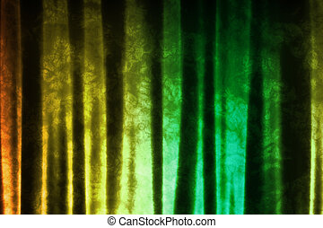 Green Yellow Music Inspired DJ Abstract Background