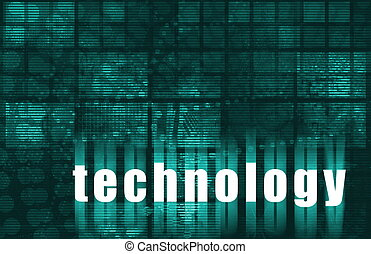 Technology Abstract Data Background
