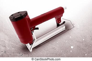 Air stapler - Digital illustration of in colour Air stapler...