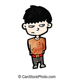 unhappy boy cartoon