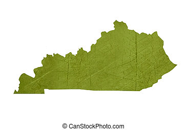 State of Kentucky - American state of Kentucky isolated on...