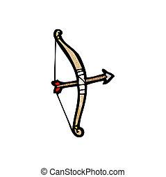 cartoon bow and arrow