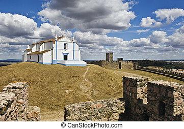 castillo, iglesia