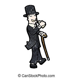 cartoon Victorian gentleman - cartoon victorian gentleman