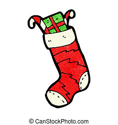cartoon christmas stocking