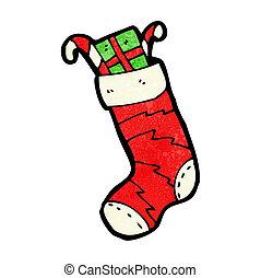 cartoon christmas stocking