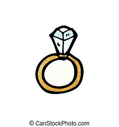 cartoon diamond engagement ring