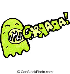 cartoon gree ghost