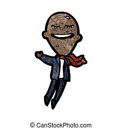 cartoon balloon head businessman