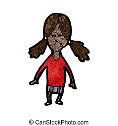 cartoon girl with pig tails