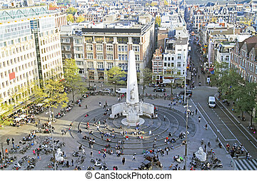 Damsquare in Amsterdam the Netherlands
