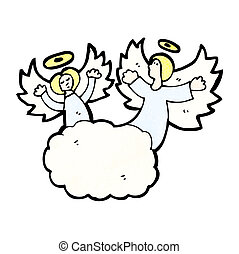 cartoon angels in heaven
