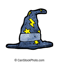 cartoon magic wizard hat