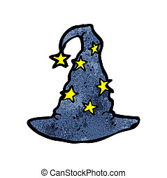 cartoon wizard hat