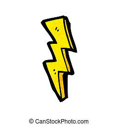 cartoon lightning bolt