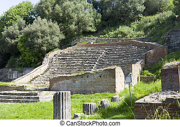 Apollonia Odeon, Albania - The Odeon or small theatre for...