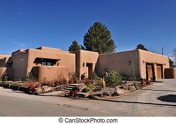 Adobe Home - Adobe home of Las Cruses ,New Mexico.