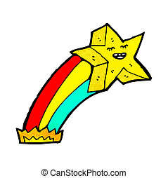 cartoon shooting star