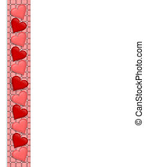 Valentine Border Hearts frame - Illustration composition...