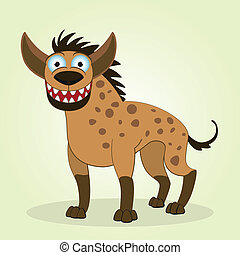 Hyena - Vector Illustration of Cartoon Hyena