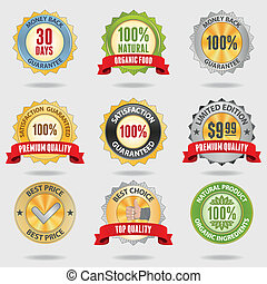 Badges set - Set of different shiny badges