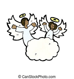 cartoon angel in heaven