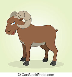 Ram - Vector Illustration of Cartoon Ram