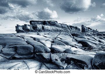 Puesto de vigilancia, rocoso, Océano