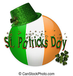 St Patricks Day icon - Illustration composition of Irish...