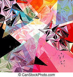 abstract background - unusual bright colorful geometric...