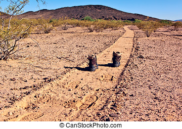Illegal Path to Citizenship - A metaphorical depiction of...
