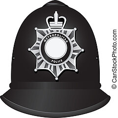 British Police Officer's Helmet - A traditional authentic...