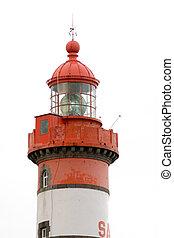 lighthouse isolated on white