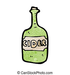 cartoon cider bottle