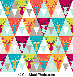 Hipster style seamless pattern