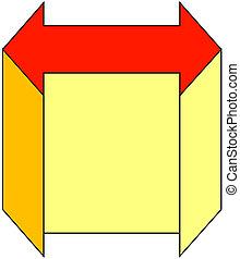 colored arrow symbol