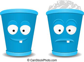 Fun recycle bins