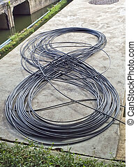 Electric wire coil is eight
