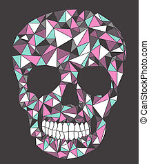 Skull with geometric pattern